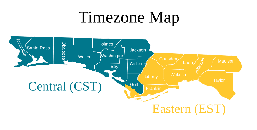 Eastern Time Zone Line Florida Map Events